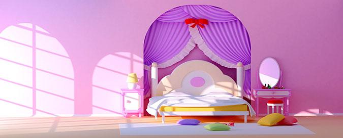 Un letto per una camera da vera principessa