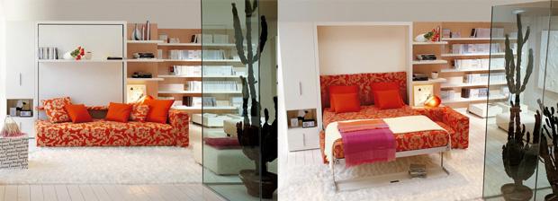Come ricavare una camera da letto in un monolocale - Divano letto per monolocale ...
