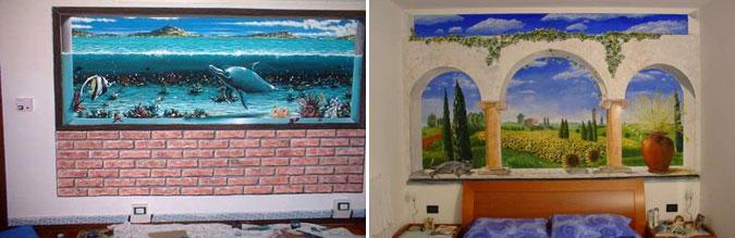 Come decorare le pareti delle camere da letto e delle - Decorazioni per camera da letto ...