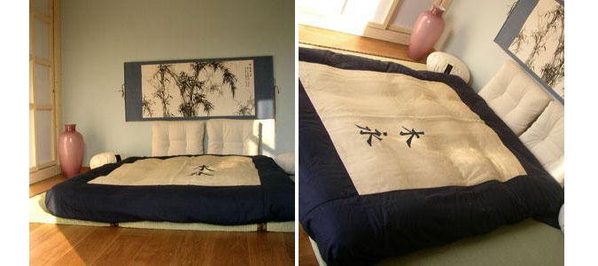 Futon e tatami rappresentano il tipico stile orientale di riposare.