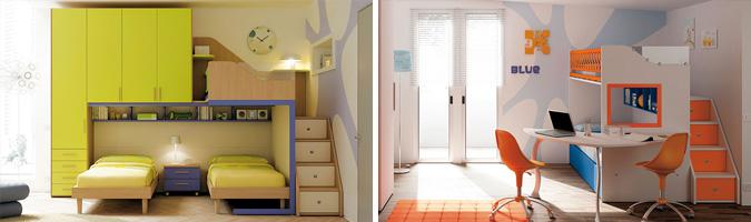 Il letto a castello permette di risparmiare spazio nella ...
