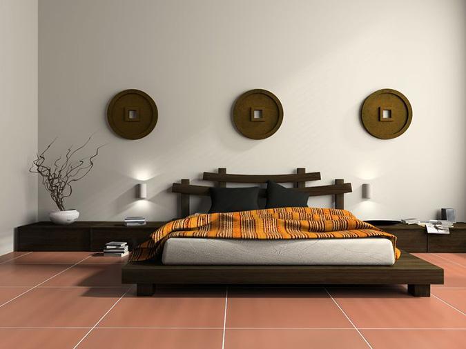 La camera da letto matrimoniale in stile etnico