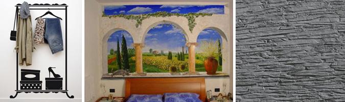 Pareti decorate delle camere da letto