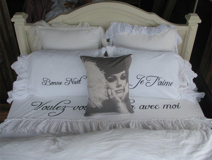 Letto in stile shabby chic